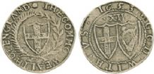COMMONWEALTH SHILLING (REPLICA) - ENGLISH CIVIL WAR COIN